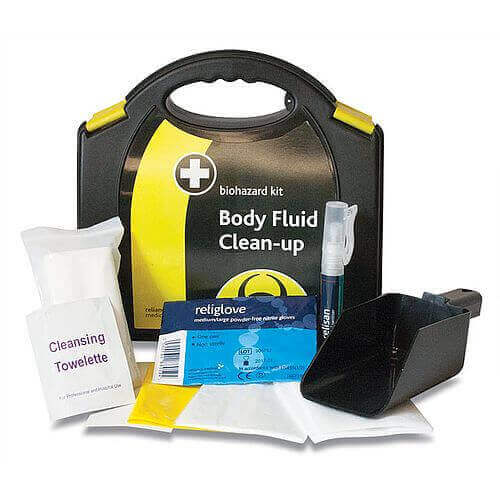 Biohazard Body Fluid Clean-up Kit contents