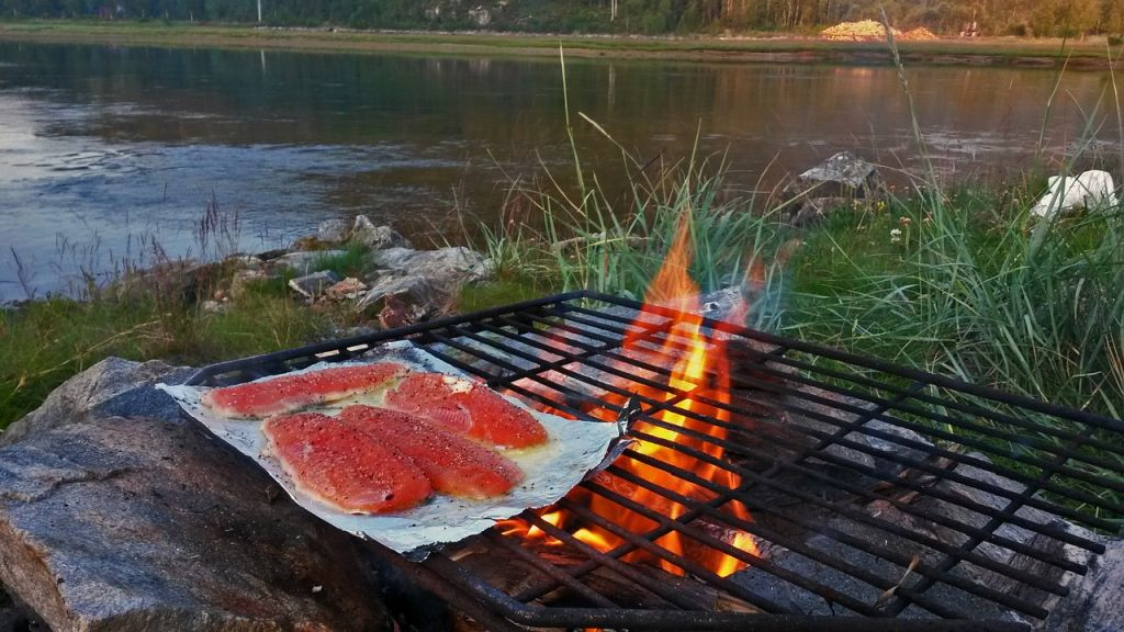 Cooking fish on the BBQ