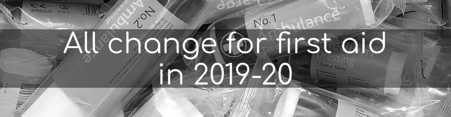 All change for first aid in 2019-20 - Image of bandages