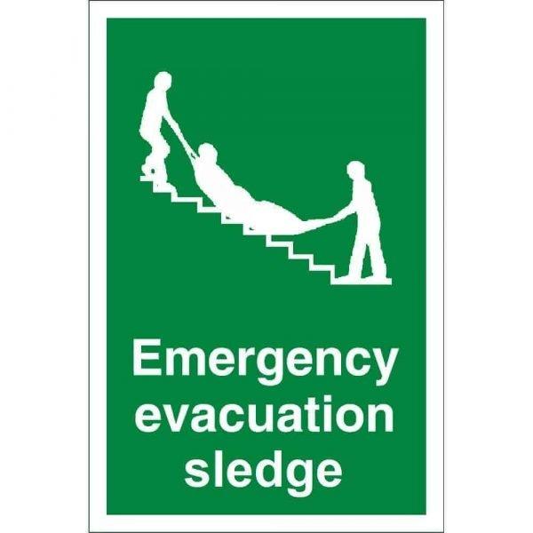 Emergency Evacuation Sledge Sign