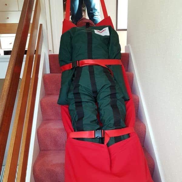 Lunching an evacuation sledge
