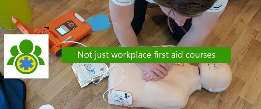 Header image - Not just workplace first aid courses
