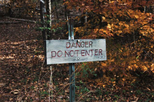 Sign - Danger, Do not enter