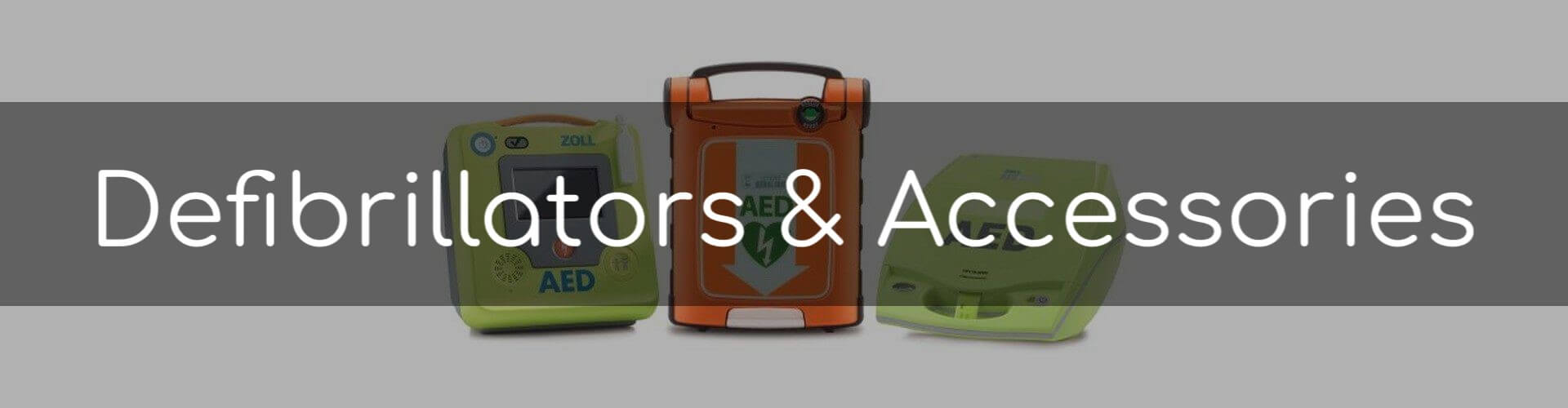 Images of Zoll and Cardiac Science brand defibrillators.