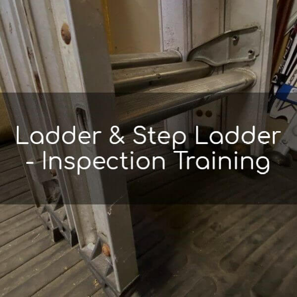 Ladder & step ladder inspection
