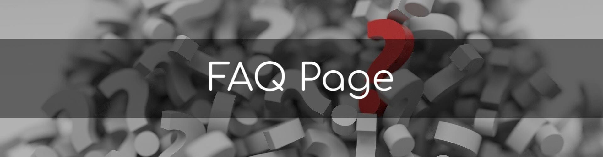 FAQ Page - Image of a pile of three dimensional question marks in a pile.